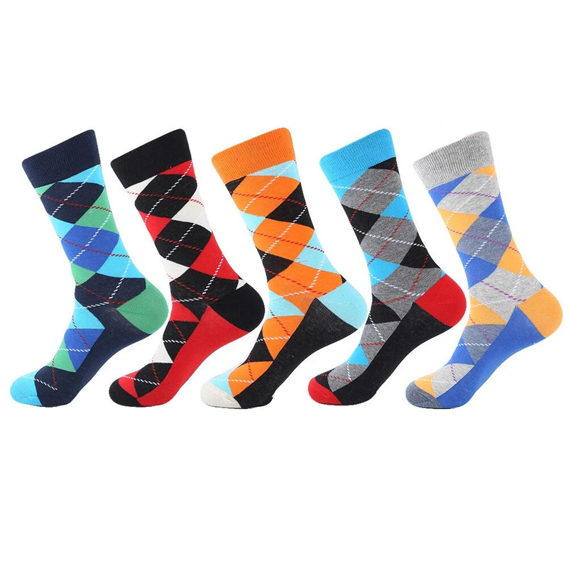 VPM 2018 High Quality Combed Cotton Brand Men Socks Colorful Dress Business Harajuku Socks Christmas Gift Box(5 pairs / lot )