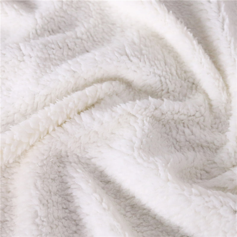 BlessLiving Blue Hooded Blanket for Adults Marble Luxury Sherpa Fleece Blanket Stones Wearable Throw Blanket 150x200cm Bedding