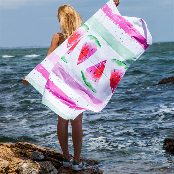 Microfiber Beach Towel Pink Summer Bath Towels For Adults Big Beach Mat Quick Dry Swimming Pool Poncho Blanket Travel
