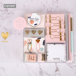 Pink Hearts Stationery Set