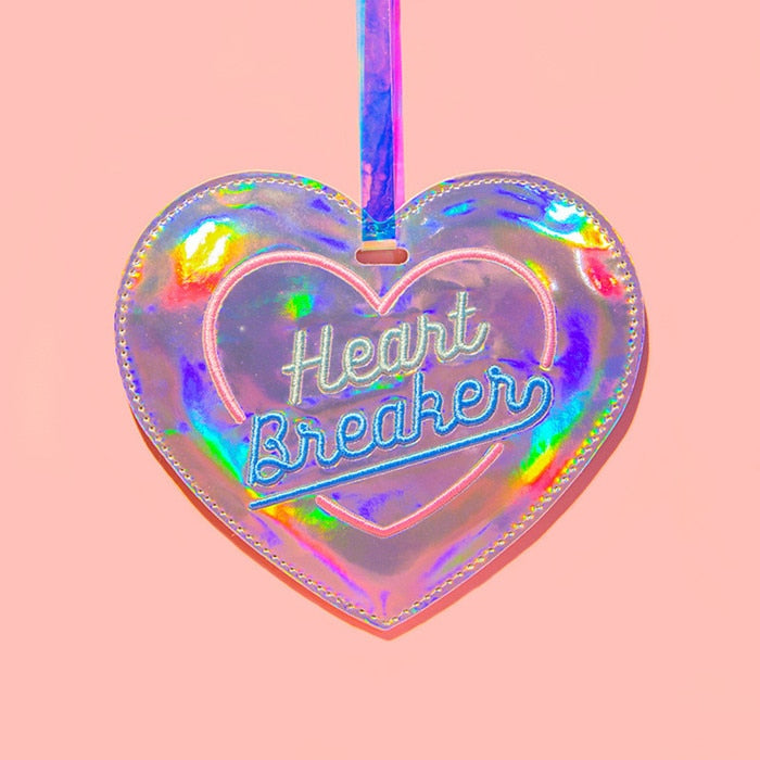 Hologram Heart Luggage Travel Tag
