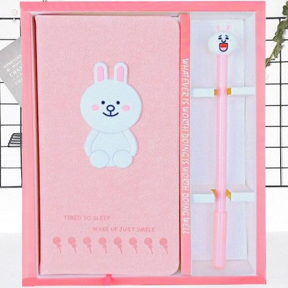 New Arrival Cute Pink Two Flamingo Notebook gel pen set with box Diary Weekly Planner School Office Supplies Kawaii Stationery