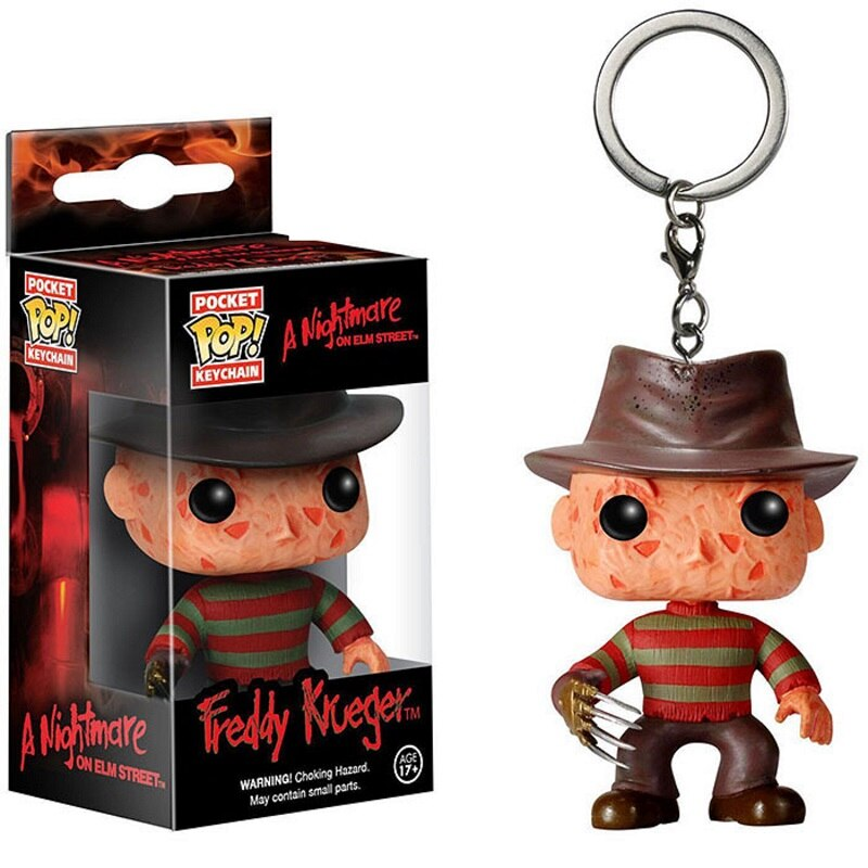Pocket Pop Keychain Official a Nightmare on Elm Street Freddy Krueger Collectible Figure Model toys for children gift With Box