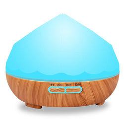 300ml Aroma Essential Oil Diffuser Ultrasonic Air Humidifier Aromatherapy Wood Grain 7 Colors Changing LED Light For Home Office
