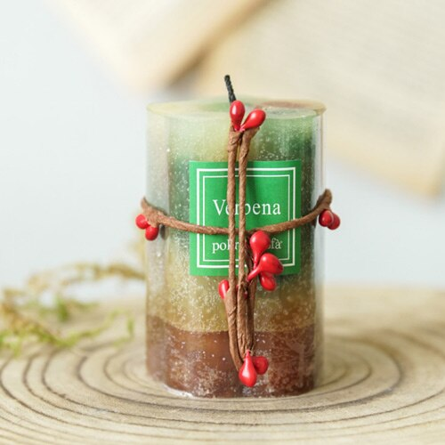 Handmade Natural Pillar Soy Wax Candles