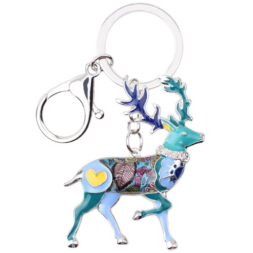 Metal Reindeer Deer Key Ring