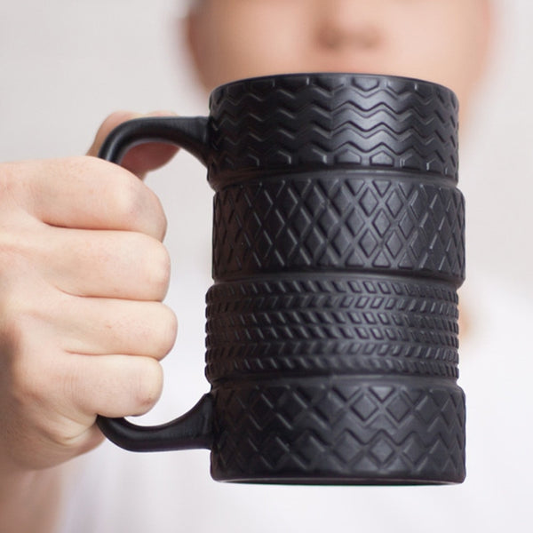 350ml Creative Tire Ceramic Mug Large Capacity Porcelain Coffee Milk Tea Black Cups Novelty Gifts