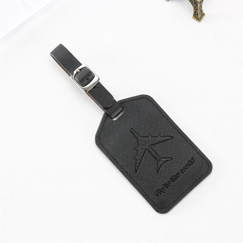 Jet Setter Leather Luggage Travel ID Tags