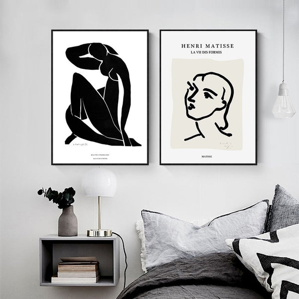 Vintage Abstract Matisse Line Figure Minimalist Europe Canvas Painting Posters Prints Wall Art Pictures Living Room Home Decor