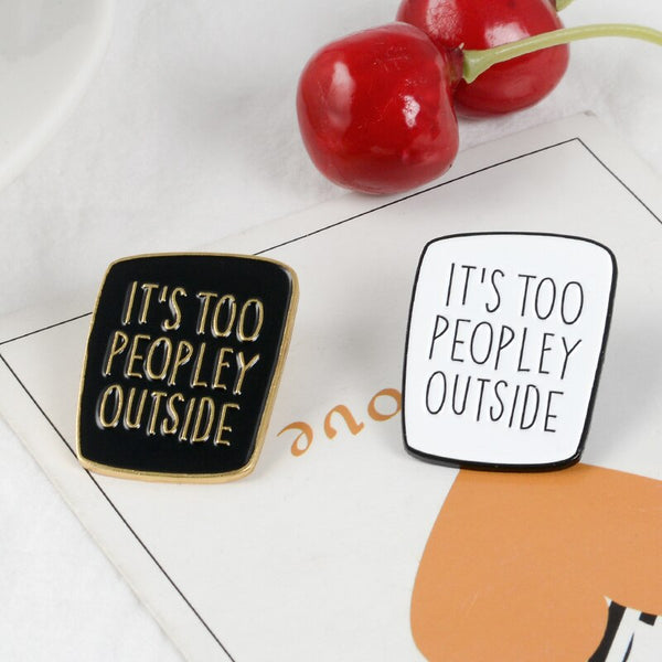 QIHE JEWELRY Introvert Brooches Anti social pins Funny Saying Badges Sarcastic Ladies Unisex Men Brooches