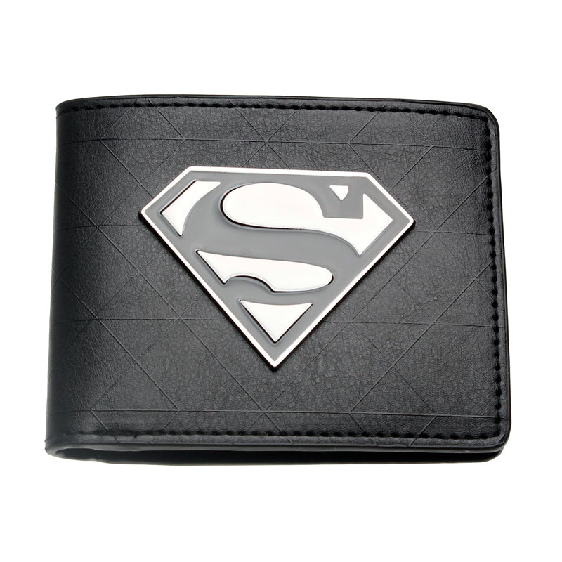 Superman Black Metal Badge Bi-Fold Wallet DFT-1328
