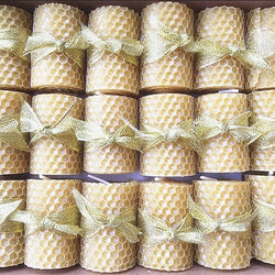 18pcs Mini Bees Wax Hand Rolled Candles