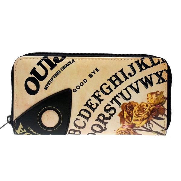 OUIJA  Letter Zip Around Wallet pu Long Fashion Women Wallets Designer Brand  Purse Lady Party Wallet Female Card Holder