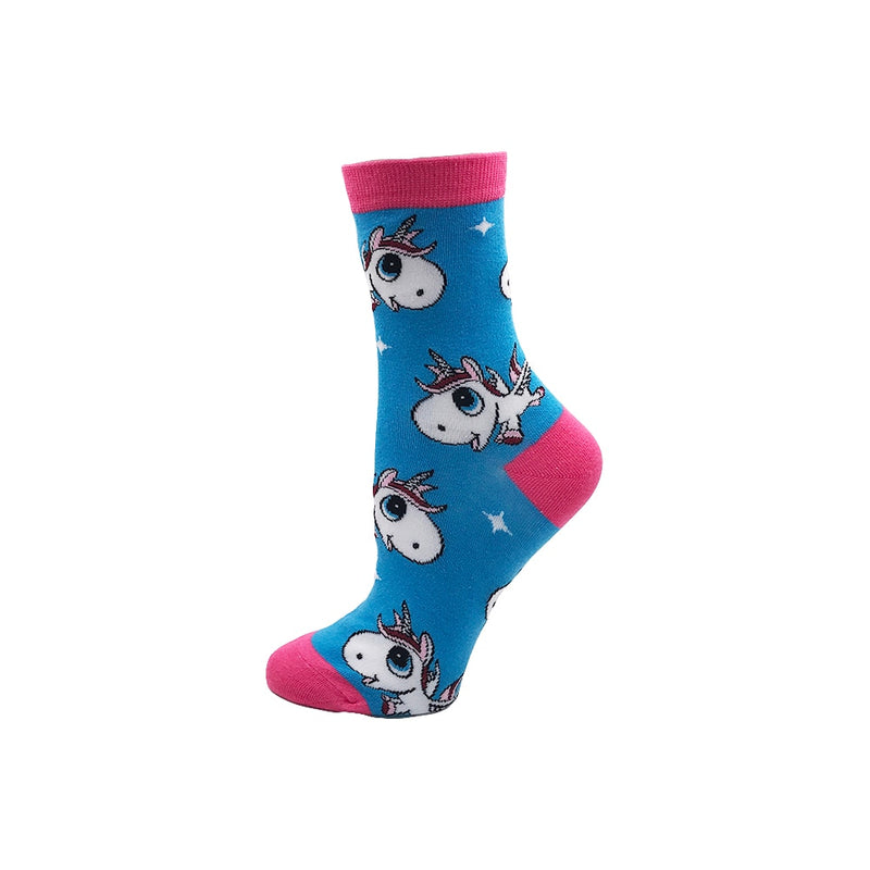 Women's Crazy Colour Cotton Socks