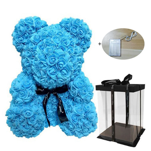Valentine LED Rose Bear Gift Box