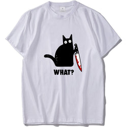 What? Murderous Cat Novelty T-Shirt