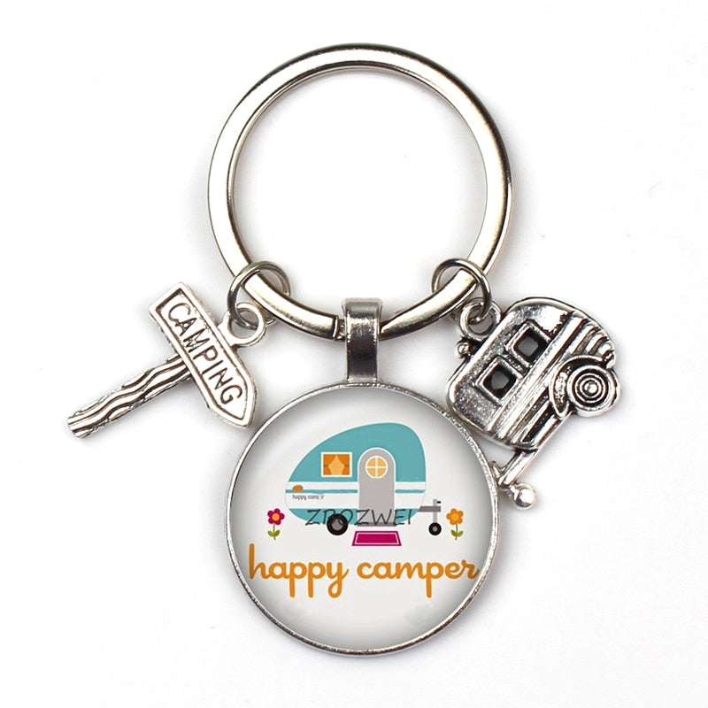 Happy Camper Travellers Key Ring