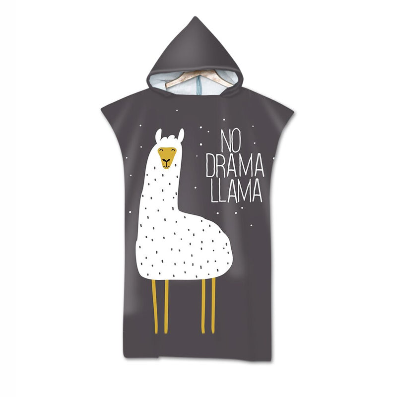 Love My Llama Wearable Beach Towel-Shirt
