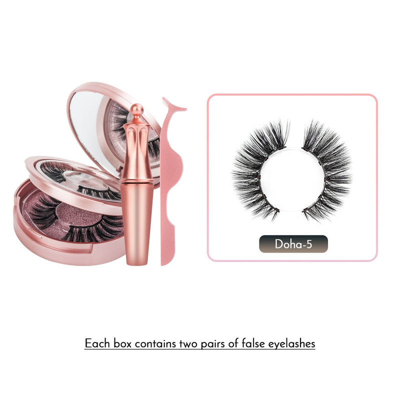 Magic Magnetic False Eyelashes Kit