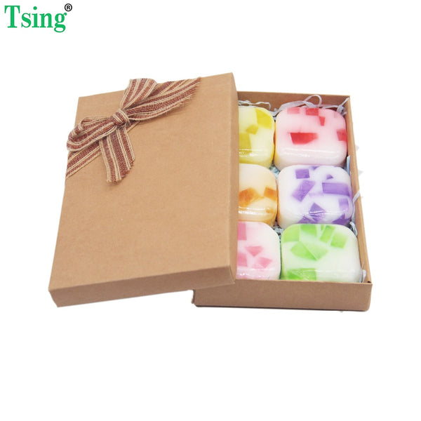 Tsing 6X100g Handmade Soap Bar Essential Oil Nourishing SPA Whitening 6 Flavor Oil Control Christmas Gifts Facial Soap Hand Soap