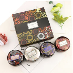 4Pcs Candle Japanese-style  Aromatherapy Candle Chiyoda Paper Tinplate Jar For Creating The Ambience