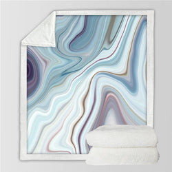 Marble Microfiber Fleece Blanket