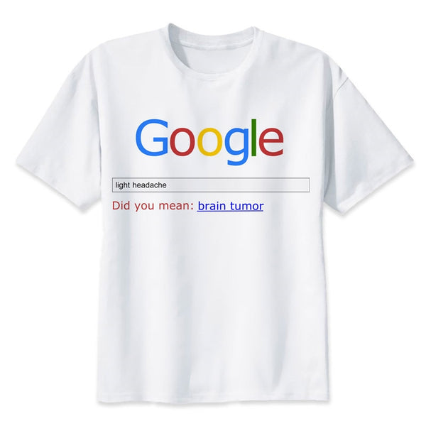 Google TShirt men boy Summer O Neck white youth t shirt casual white print anime t-Shirts men top tees funny