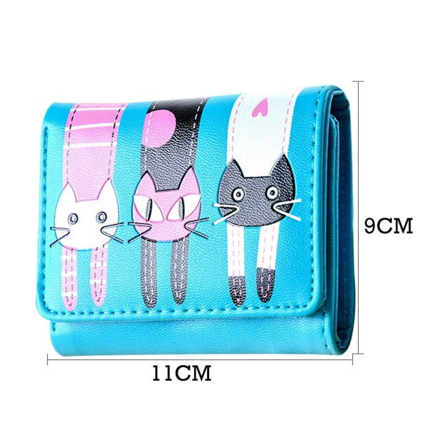 Hanging Cats 3 Fold Fashion Wallet