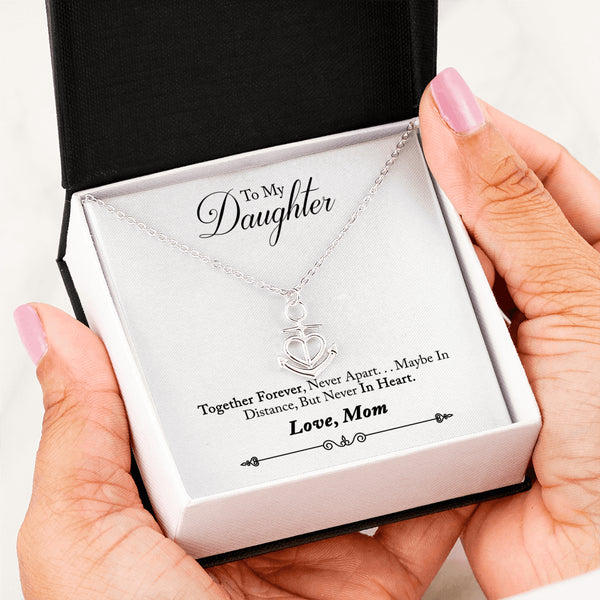 To My Daughter Love Anchor Necklace