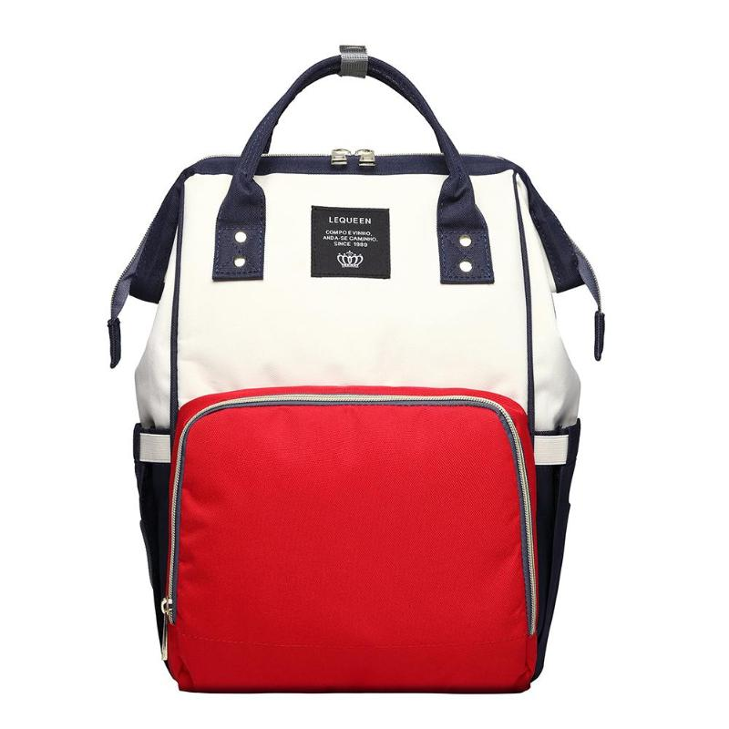 2-Toned Backpack Nappy Travel Bag