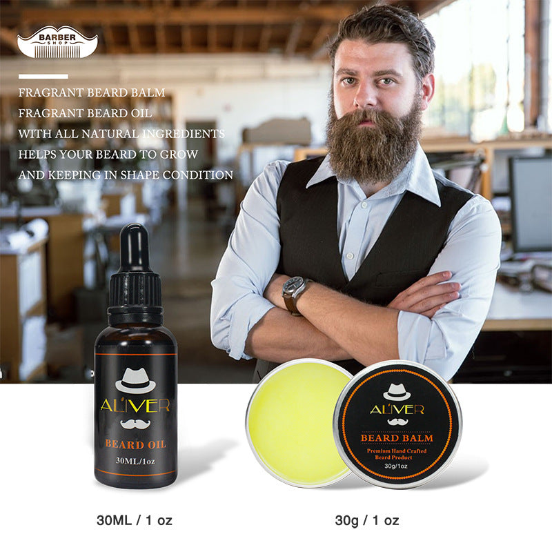 Beard Care Kit 6pcs Gift Set