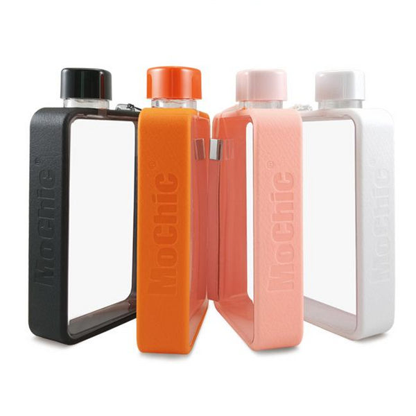 500ml Transparent Flat Notebook Water Bottle