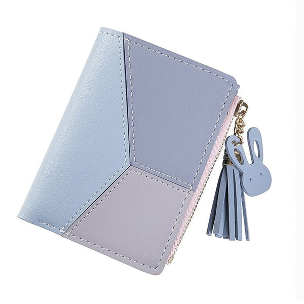 Ladies Contrast Stitch Bi-Fold Fashion Wallet