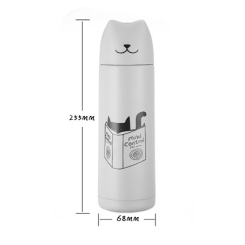 500ml Reusable Cute Cat Flask