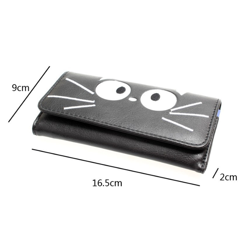 Long Style Cat Face Wallet