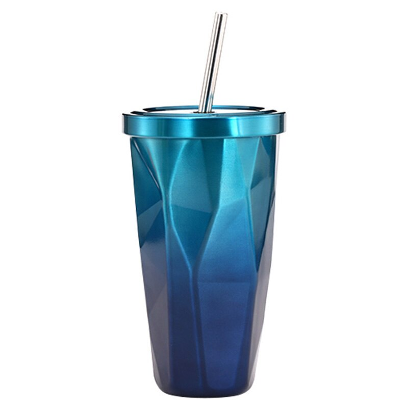 500ml Reusable Tapered Diamond Cup Flask