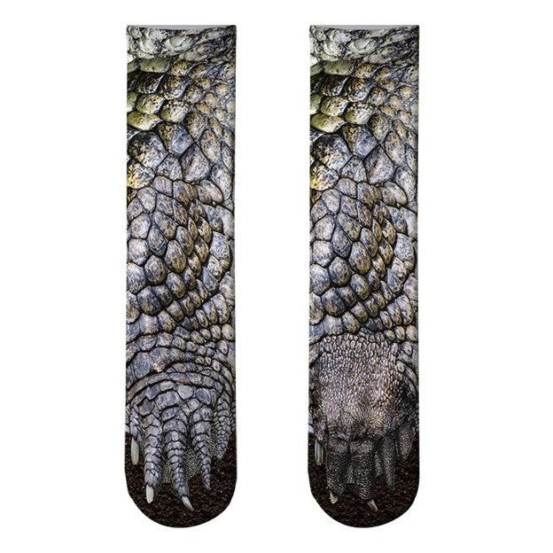 Unisex 3D Printed Animal Feet Socks