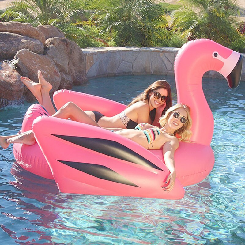 Giant 2 Person Flamingo Inflatable Float