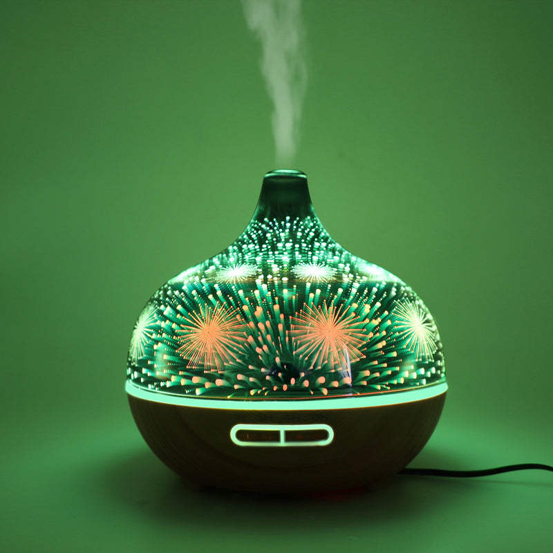 400ML LED Patterned Glass Humidifier