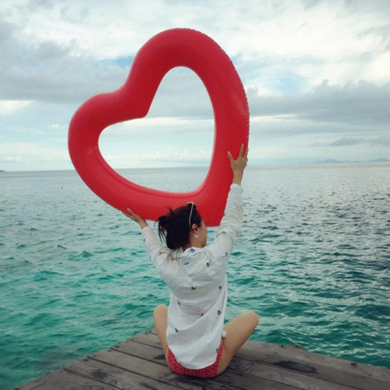 Love Heart Swim Inflatable Beach Float