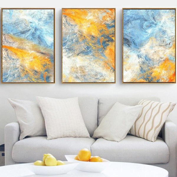 3Pcs Explosion Abstract Canvas Art Prints - No Borders or Frame