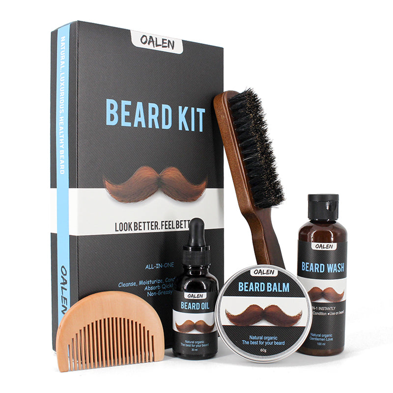 Gentlemen's Beeswax Styling Beard Care Kit