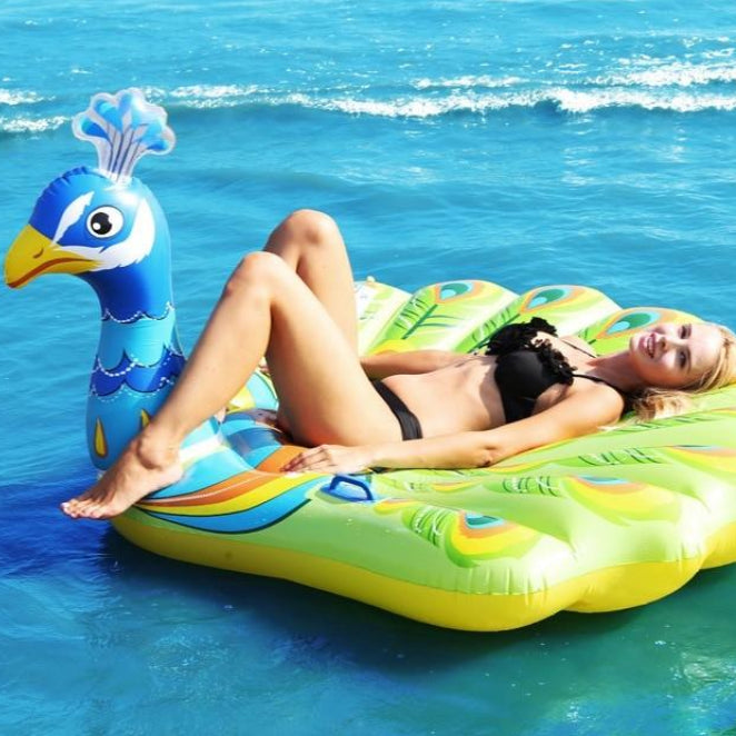 Proud Pool Peacock Inflatable Float