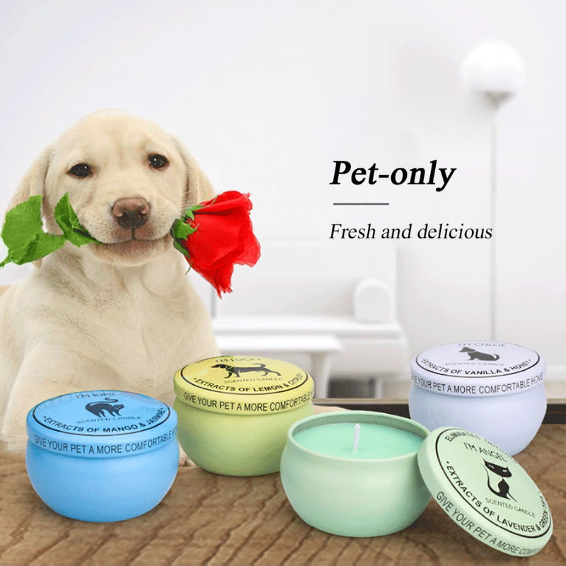4pcs Natural Soy Odour Eliminator Pet Candles