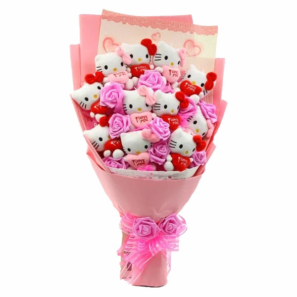 Forever Plush Kitty Bouquet