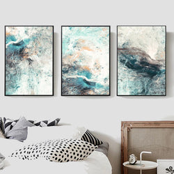 Modern Marble Abstract Canvas Art Prints - No Borders or Frame