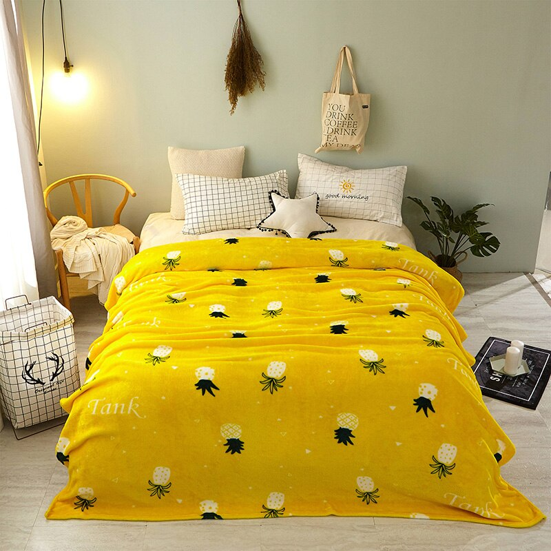 Pineapple Velvet Blanket