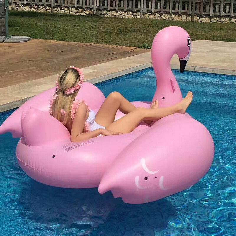 Large Pink Swan Inflatable Beach Float