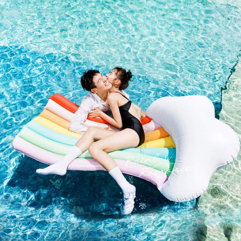 Inflatable Rainbow Pool Lounger