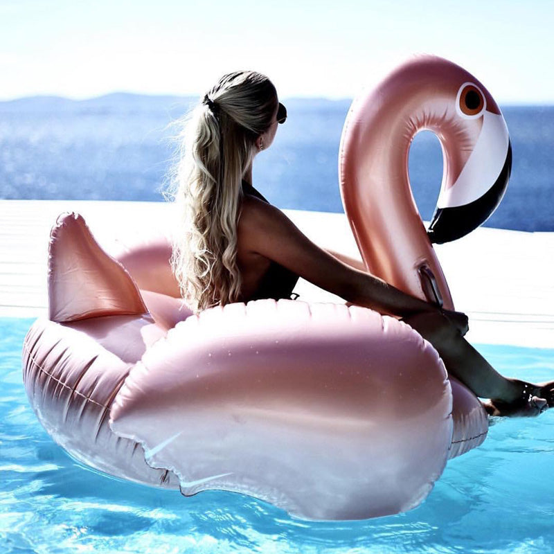 Rose Gold Inflatable Flamingo Float